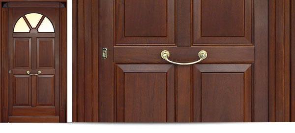 porte | rb bertoli - Porta Dingresso In Legno Massello